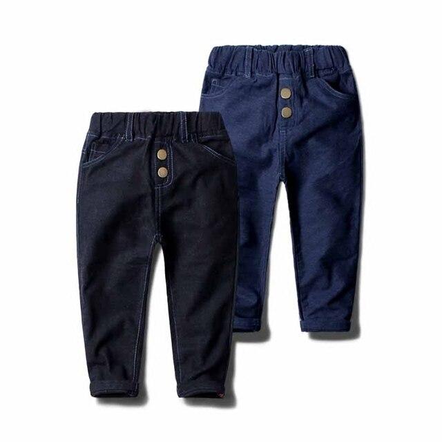 2017 New Boys Jeans Knit-like Jean Soft Casual Kids Pant Boy Pants For Children Toddler Denim Trousers Jeans Garcon Enfants