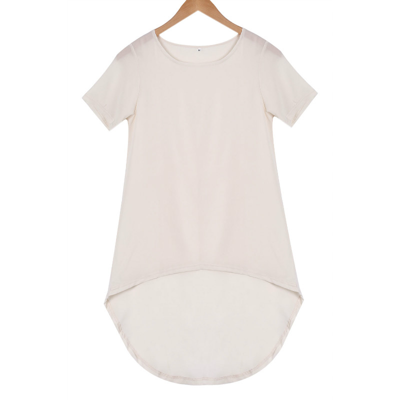 Fashion Sexy Women Summer Loose Casual Chiffon Plus Tee Shirt Blouse Tops