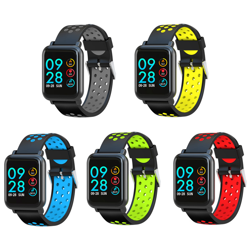 Image 5 - Smart Sport Watch SN60 Android IOS Heart Rate Men Women Bracelet Blood Pressure Fitness Tracker Color Waterproof Activity Band-in Smart Wristbands from Consumer Electronics