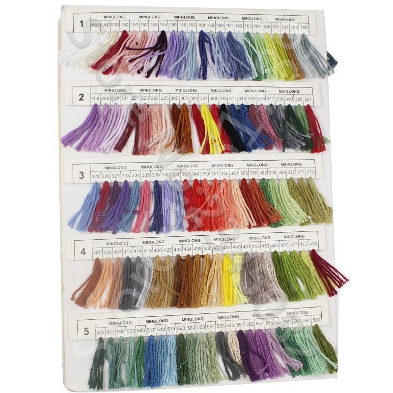 Snowlover, рукоделие, 10 шт./лот, 1,2 м, разные цвета, DMC3824-3848, вышивка крестиком, хлопковое шитье, моток пряжи, нить для вышивки