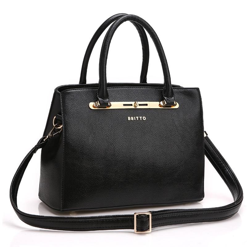 ROMERO BRITTO Hot Sale PU Handbags Vintage Women PU Handbag Shoulder Bags Tote Purse Ladies Messenger