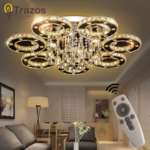 LED Crystal Chandelier Light Modern LED Dimming Chandelier Lamp Hanging Lustres Remote control Lighting Home Decoration luces led decoracion led chandelier crystal lighting modern crystal light fixture circle hanging lustres led luminaire home lamp