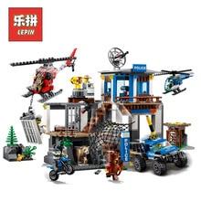Лепин 02097 город серии Mountain полиции штаб-квартира комплект LegoINGlys 60174 строительные блоки Кирпич игрушки модель для детей в качестве подарков