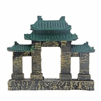 8 Saim Aquarium Resin Ancient Temple Ruins Ornament Fish Tank Decoration Acuarios Aquatic Aquarium Decorations B0000011770