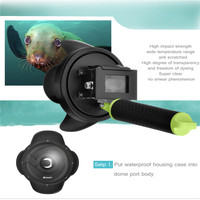 High Quality 4 Inch Diving Dome Port For Xiaomi Yi Action Cam With Waterproof Case Underwater