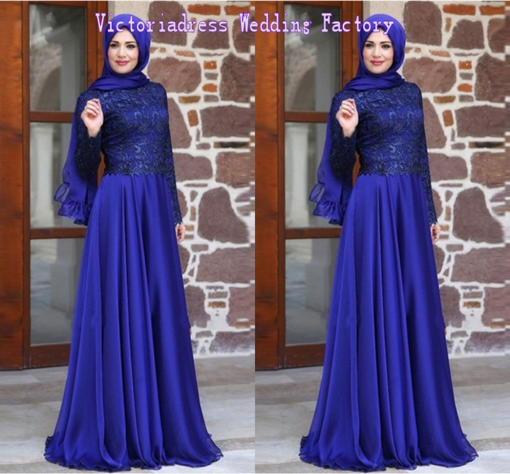 Vestidos Dubai Moroccan Kaftan Abaya Evening Dresses With Muslim font b Hijab b font Long Sleeves