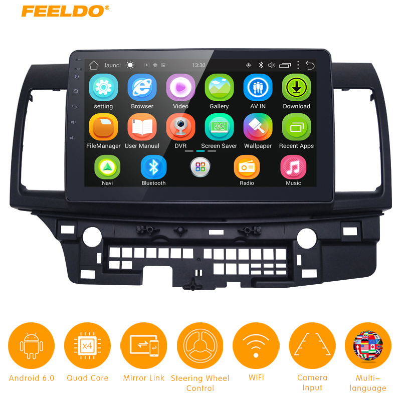FEELDO 10.2 inch Android 6.0 10.2Quad Core Car Media Player With GPS Navi Radio For Mitsubishi Lancer EX(2007-present #5269FEELDO 10.2 inch Android 6.0 10.2Quad Core Car Media Player With GPS Navi Radio For Mitsubishi Lancer EX(2007-present #5269