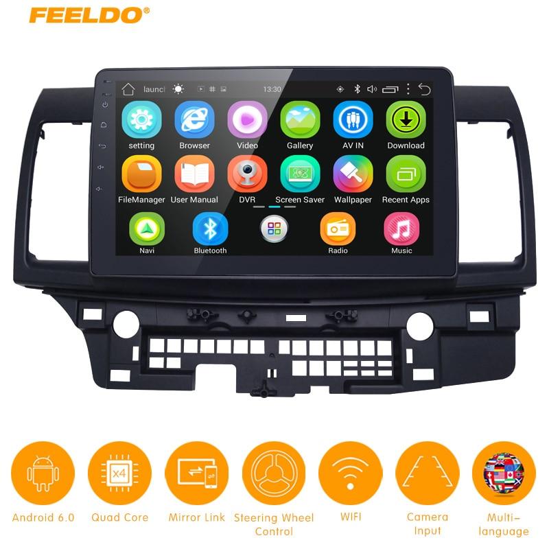 FEELDO 10.2 pouces Android 6.0 10.2 Quad Core Lecteur Multimédia De Voiture Avec GPS Navi Radio Pour Mitsubishi Lancer EX (2007-présent #5269