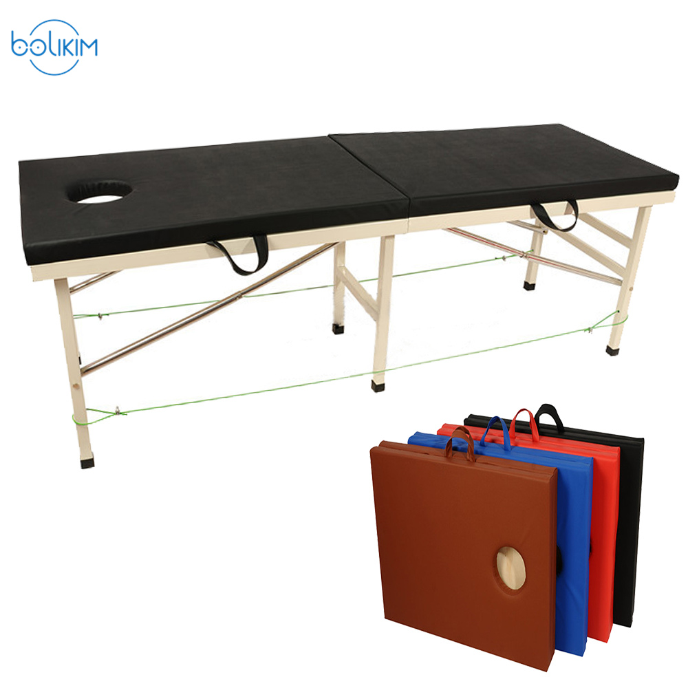 BOLIKIM Folding Therapy Massages Bed Handy 280KG Liftng Capacity.Portable Beauty Bed.Salon Furniture High Quality Thicken Sponge