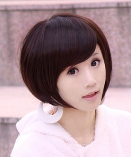 Wig women's wifing bobo oblique bangs wig repair
