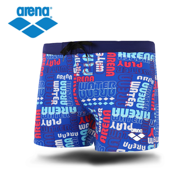 Arena Mens Swimming Trunk High Elasticity Anti-chlorine Breathable Surf Board Beach Wear Boxer Shorts Swim Suits