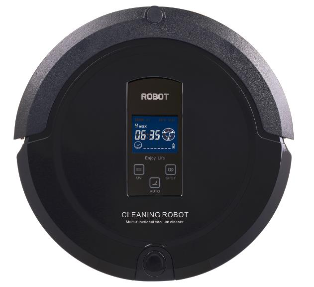 Robot Vacume cleaner A325 (Sweep,Vacuum,Mop,Sterilize)LCD Touch Screen,Schedule,Auto Charge 2017 most advanced robot vacuum cleaner for home a325 sweep vacuum mop sterilize schedule intelligent home cleaner