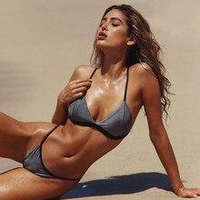 Women Bikini Set Triangle Push up Bordered