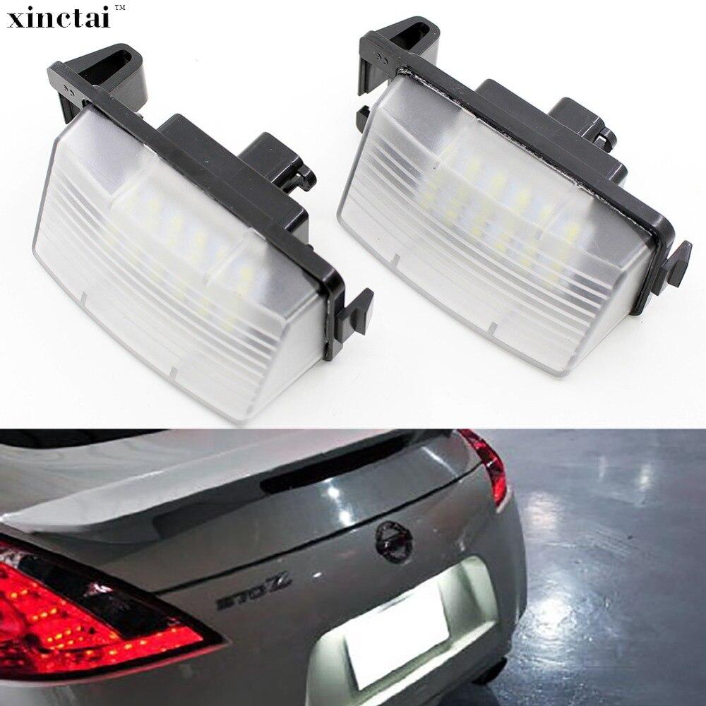 2 pcs Canbus Aucune Erreur LED Nombre de Plaque D'immatriculation pour Infiniti G35/G37 Berline G37 Coupé 2D/ convertible 2D Nissan 350Z 370Z