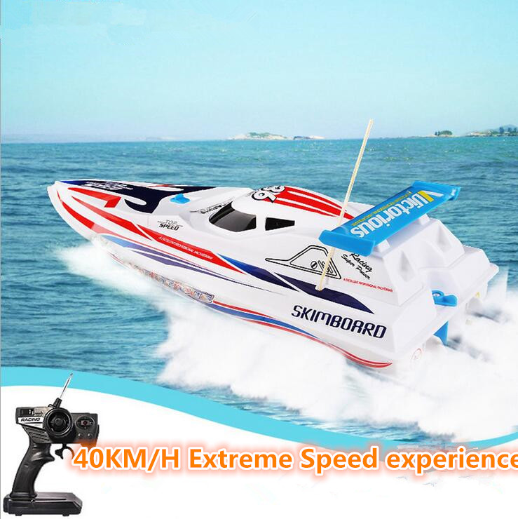 Top sale remote control boat HQ948 65cm 40KM/H double motor rc jet electric powered engine high speed speedboat boat water toy