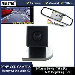"""Samochód Parking4.3 """"LCD samochodów lustro widok z tyłu monitora + lusterko wsteczne SONY kamera HD CCD samochodów dla Ford 2012 focus Hatchback/Sedan w Kamery pojazdowe od Samochody i motocykle na"""