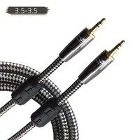 HIFI 3.5 мм до 3.5 мм аудио кабель для наушников Iphone телефон автомобиля Динамик вспомогательный кабель Mini Jack Stereo кабель aux 1 м 2 м 3 м