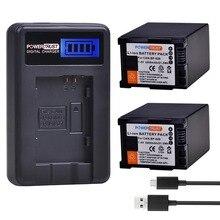 2 шт 2900 mAh BP-828 BP 828 BP828 Батарея + ЖК-дисплей USB Зарядное устройство для Canon VIXIA GX10 HFS30 HF20 HG20 G30 G40 XA20 XA25 HFM300