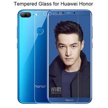 Transparent Screen Glass for Huawei Honor 7 V8 8 Pro 7S Tempered Glass for Honor 10 Lite V9 Play View 10 Glass on Honor 9 Lite(China)