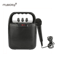Musicity Portable Karaoke Bluetooth Speaker With Voice Amplifier Bass Music FM Radio USB Port SD Card