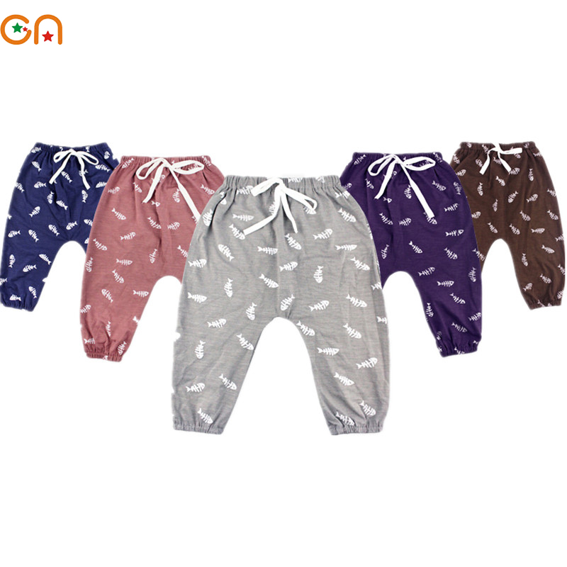 Kids Cotton Harem pants Boy,Girl,Baby,Infant,fashion Anti-mosquito printing soft pants C ...