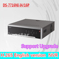 DS-7716NI-I4/16P English version 16CH NVR with 4 SATA and 16 POE, HDMI up to 4K , ANR, alarm Recording at up to 12 MP