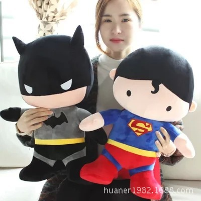 50cm Lovely Superman Batman stuffed doll plush toys creative birthday gift for kids stuffed animal 44 cm plush standing cow toy simulation dairy cattle doll great gift w501