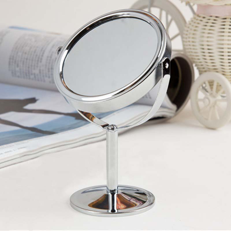 2016 Hot Sale Lady Table Mirror Desk Standing Dresser Cosmetic Makeup Mirror  Double Sided Magnification 4