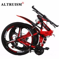 Altruism X9 Pro Mountain Bike Aluminum Men Women 21 Speed 26 Inch Double Disc Brake Mountain