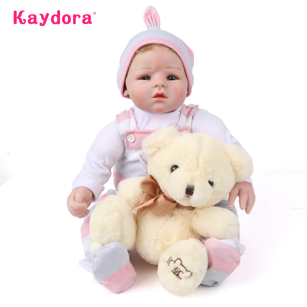 New Arrival KAYDORA 20 Realistic Reborn Baby Doll 50CM Lifelike toddler Baby Boneca girl kid toy bebe doll Birthday Gifts new arrival 55cm blue eyes pink clothes lifelike baby soft girl doll with free plush toy as kids xmas gifts birthday doll toys