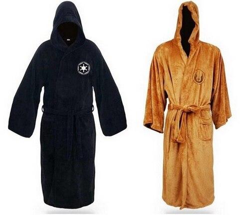 Hot Sale Star Wars Darth Vader Coral Fleece Terry Jedi Adult Bathrobe Robes Halloween Cosplay Costume for Men Sleepwear M L XL