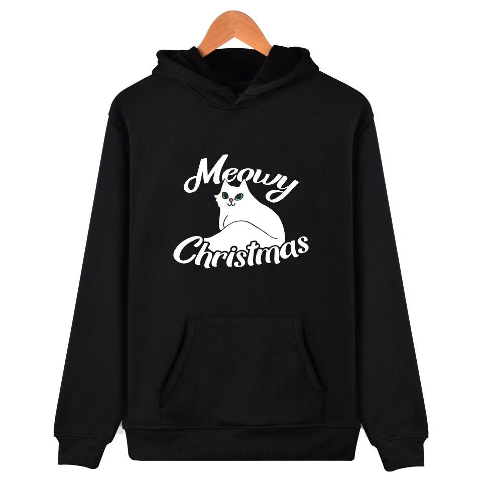 BTS merry christmas Hooded Mens Hoodies And Sweatshirts Fashion Black Sweatshirt Men/Women Casual Funny Clothes XXS-4XL