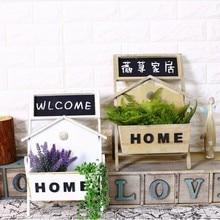 Village Pastoral Wood Pergola Blackboard Stents Flower Basket Cafe Flower Shop Home Garden Decoration Wooden Shelf Organizador