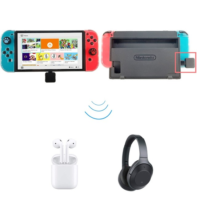 USB Tipe C Nirkabel Bluetooth 4.0 Adapter Dongle Headphone Audio Transmitter untuk NS Switch Splatoon Zelda PS4 Mainan Elektronik