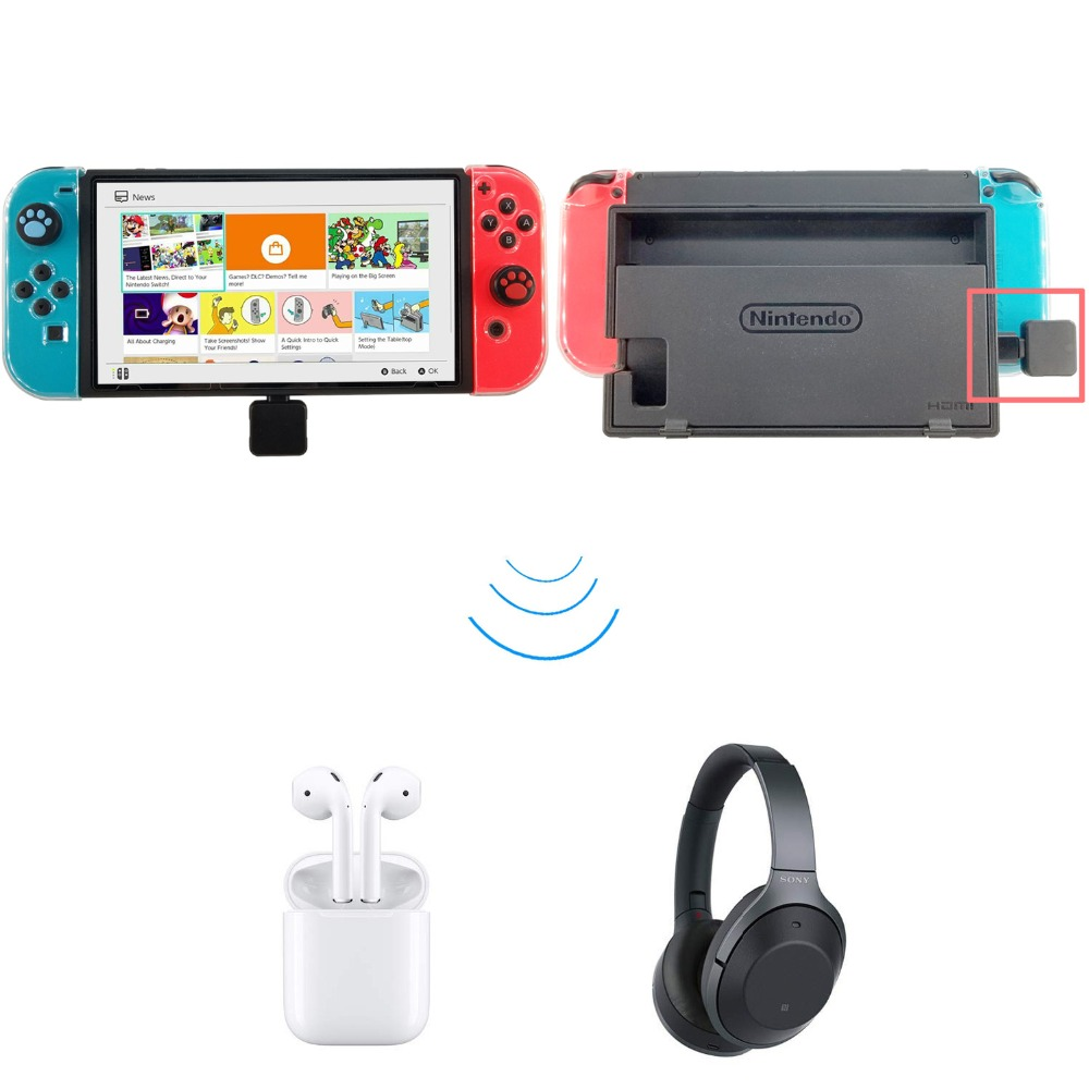 USB Type C Wireless Bluetooth 4.0 Adapter Dongle Headphones Audio Transmitter For NS Switch Zelda PS4 Electronic Toys