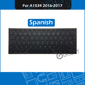 "Full New Laptop A1534 ES Spanish Keyboard For Macbook Retina 12"" A1534 Replacement keyboard 2016 2017 Year EMC 2991 3099(China)"