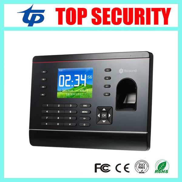 цена на Free shipping TCP/IP fingerprint time attendance with RFID card reader 2.8inch color screen with free Spanish English software