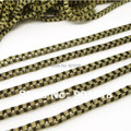 10meters/lot 2.4mm antique bronze/rhodium necklace box chains Fitting DIY jewelry F679