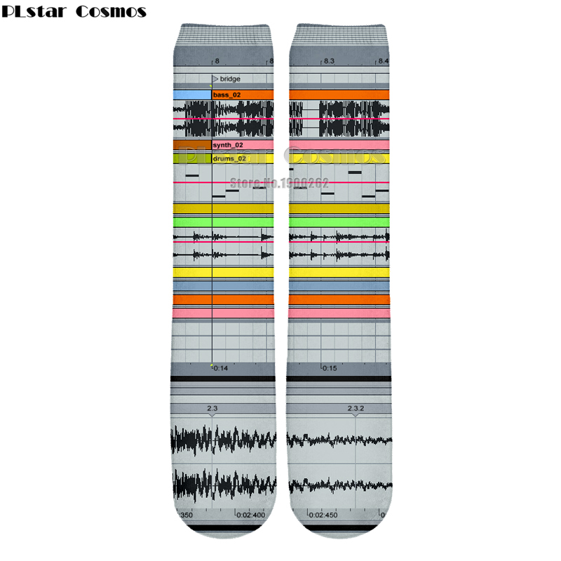Plstar Cosmos new 3D socks Ableton live New style Brand Popular 3D High Socks Men Women  ...