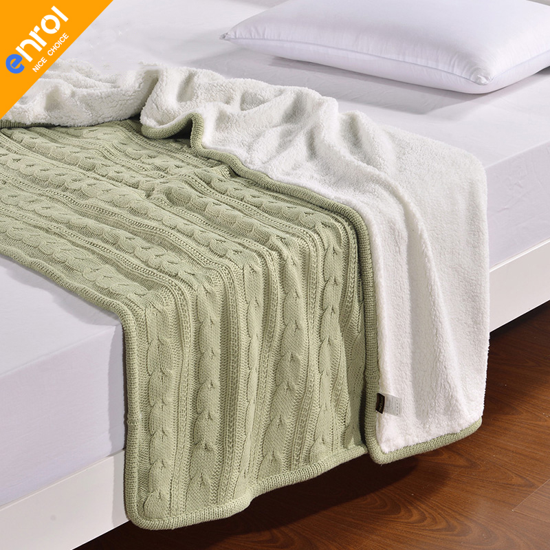 Knitted Cashmere Blanket Winter Wram 120*180cm AB Double Side For Home Hotel Plane Winter Autumn High Quality Free shipping