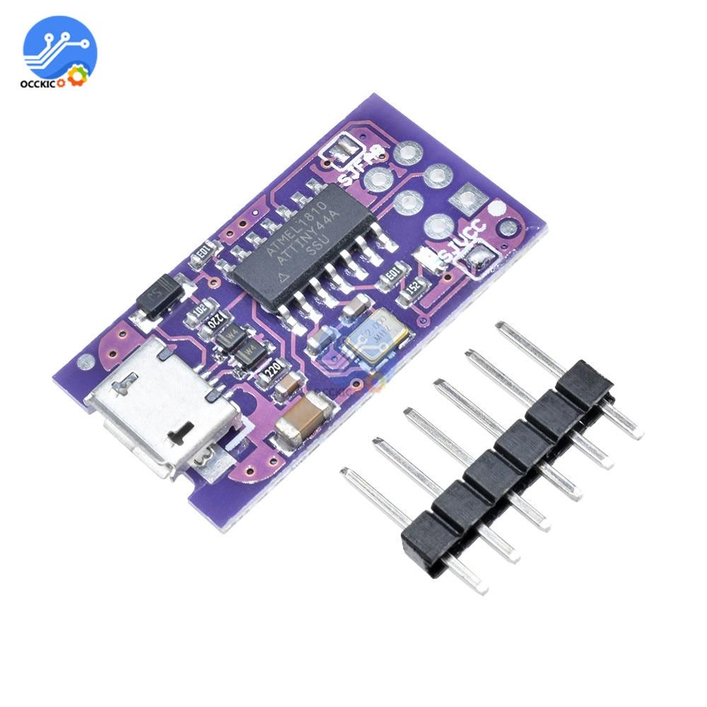 1 24 33 De Descuento Módulo Attiny44 5v Micro Usb Pequeño Programador Isp Avr Módulo Para Arduino Cargador De Arranque Microcontrolador Isp In