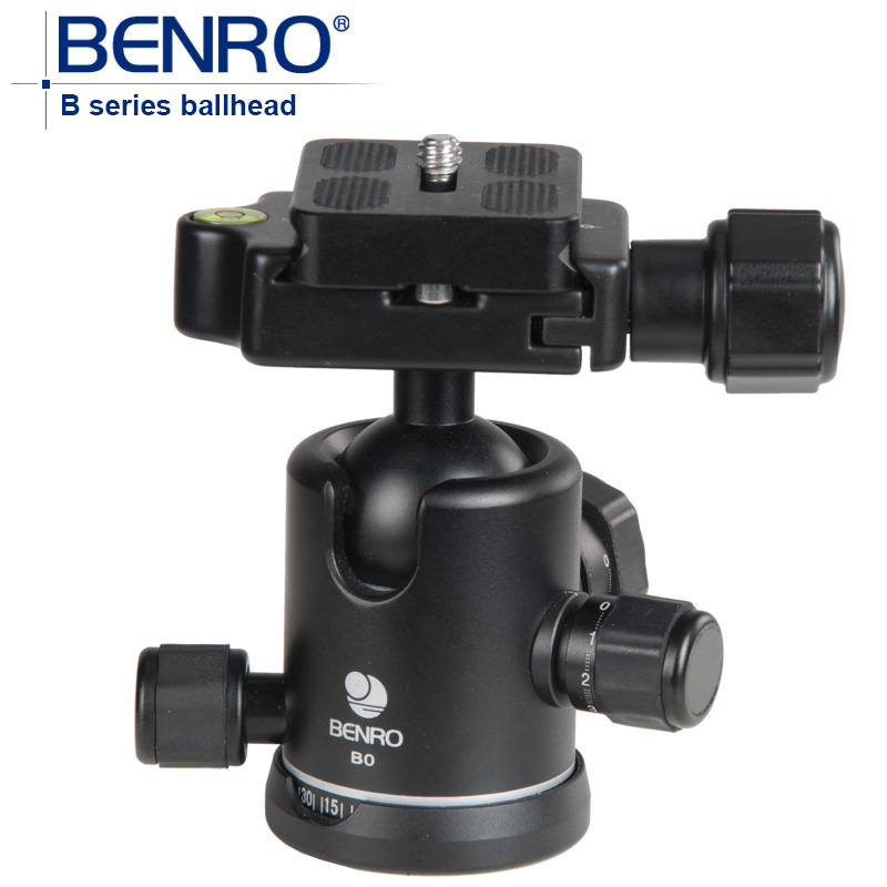 BENRO B Series Professional Ball Heads Dual Action Ballhead B0 B-0 Aluminum Lighter Weight Ball Head штатив для фотокамеры neewer pu60 slr arca benro b0 b1 b2 j1 j0 ballhead