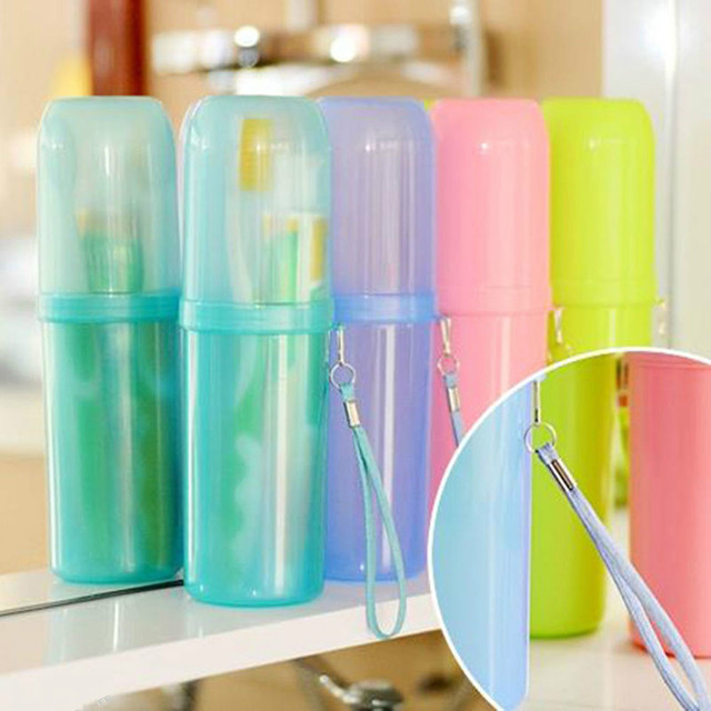 1pcs Couple Travel Toothbrush Box Toothpaste Holder Protect Case Cup