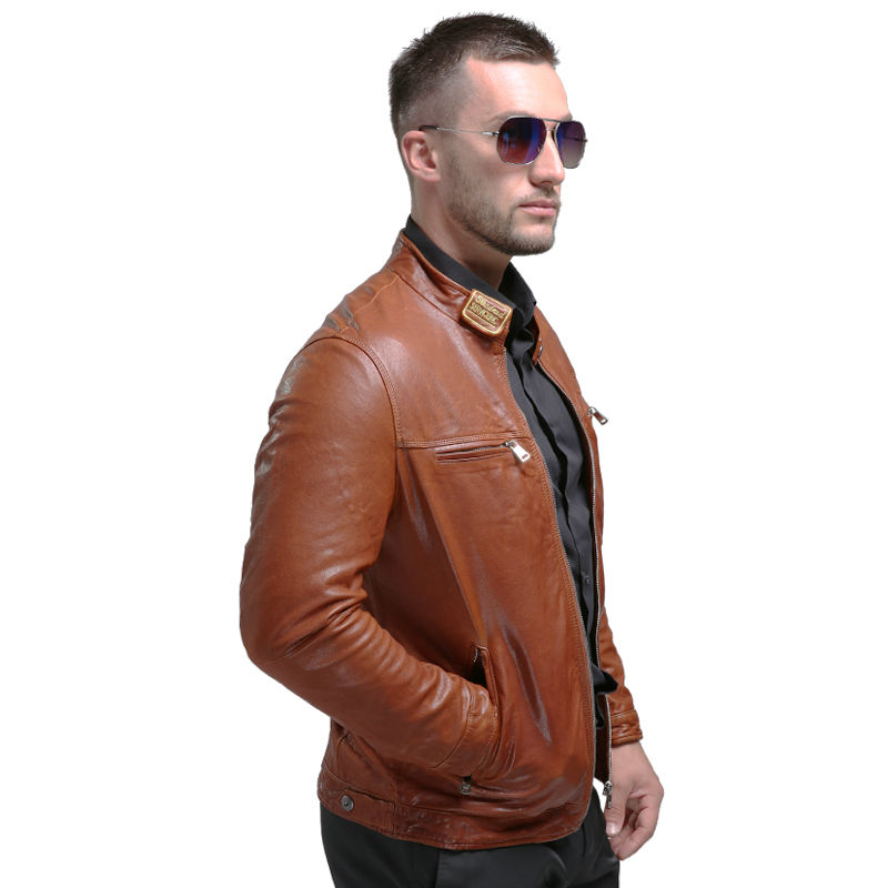 AIBIANOCEL Brand New Lederjacke Winter Echtes Leder Herren Jacke - Herrenbekleidung - Foto 3