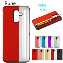 купить For Samsung Galaxy S9 S9 Plus case Shockproof TPU + PC Armor Silicone Rubber Hard Case For Note 8 9 with Card Slot Holder Cover дешево