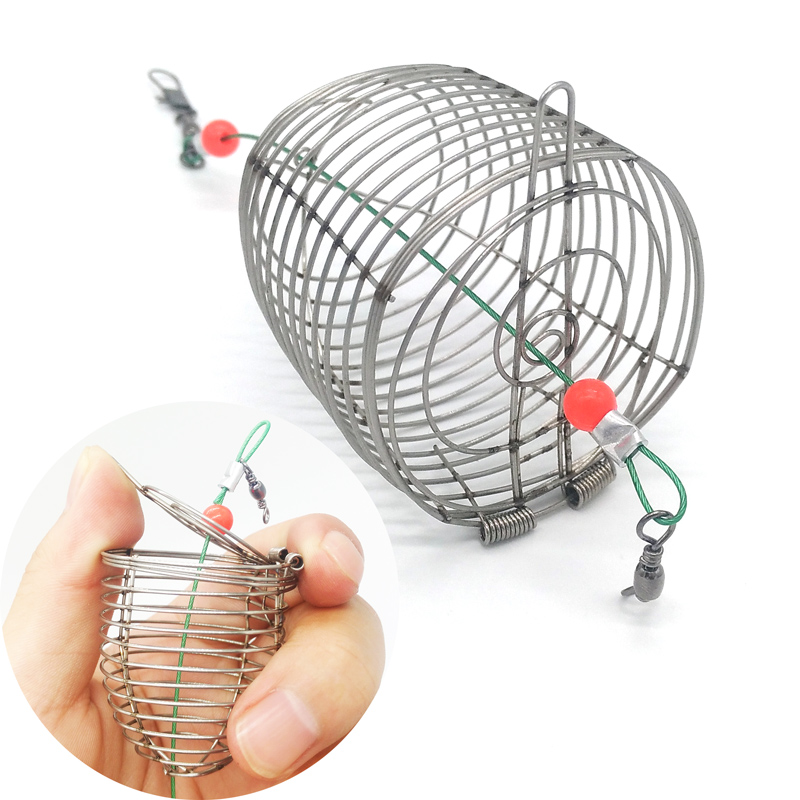 Fishing net lure cage small bait fishing trap with for Small fishing net