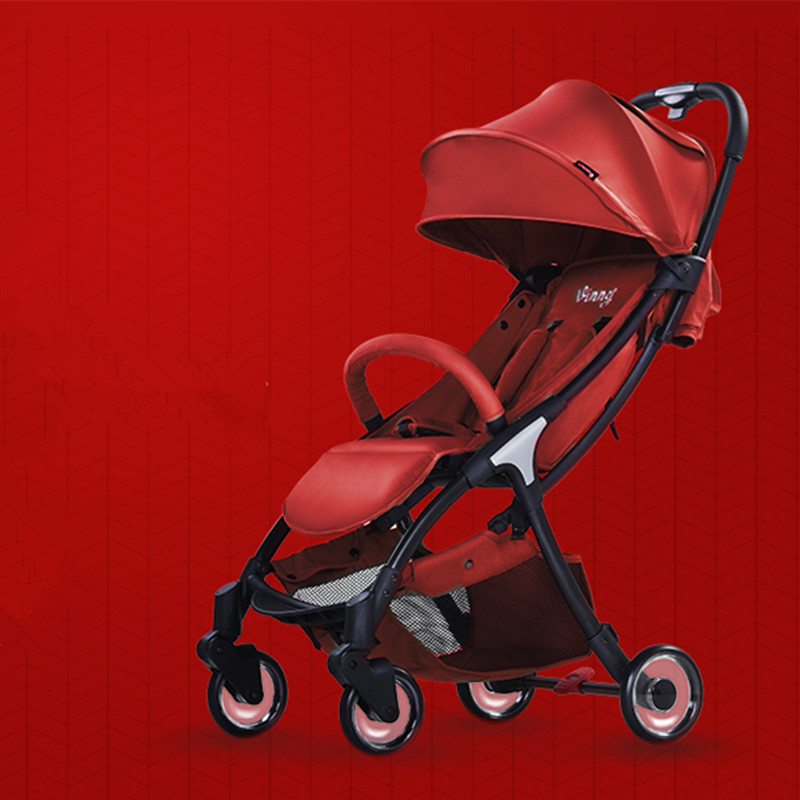 Baby strollers 2 in 1 aluminum alloy Can sit and lay folding ultra-small pocket childrens lightweight stroller ...