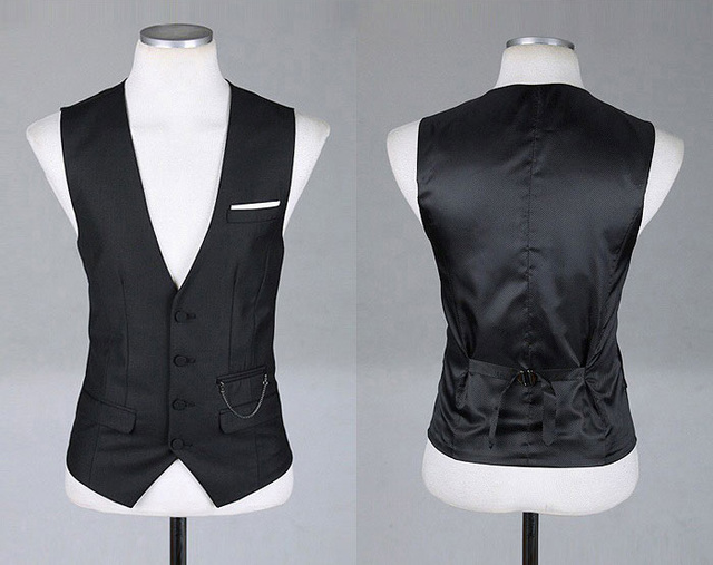 2016 NEW arrival Men's Businesswear Gentleman casual Waistcoat V neck Slim fitness Vest Match Blazers MQ397