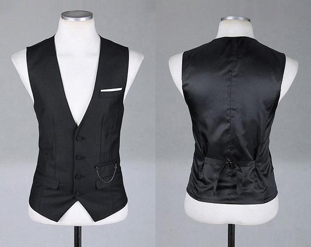 2016 homens NOVOS da chegada prevista Businesswear Cavalheiro Colete casuais V pescoço Fino Colete de fitness Jogo Blazers MQ397