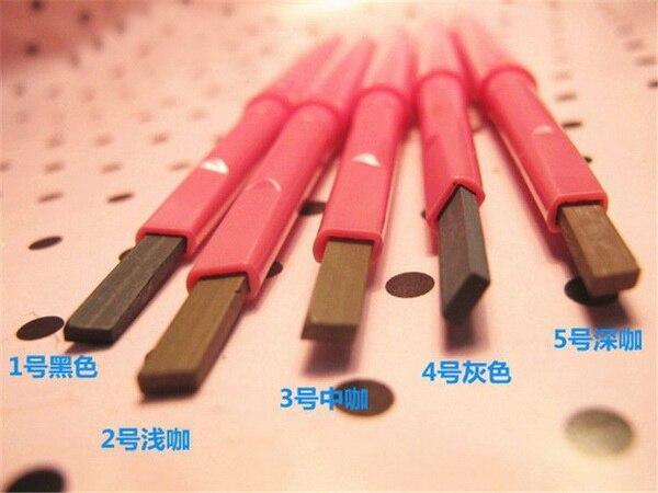 by DHL 500cs 5 Colors Waterproof Longlasting Eyebrow Pencil Eye Brow Liner Powder Shapper Makeup Tool